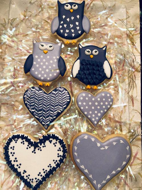 Valentine Purple-themed Owls