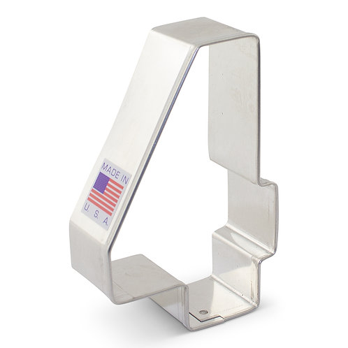 "Number 4 Cookie Cutter - 3 1/4"" x 2 1/8"""