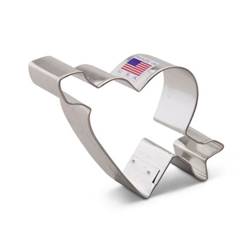 Heart with Arrow Cookie Cutter 3 3/4""