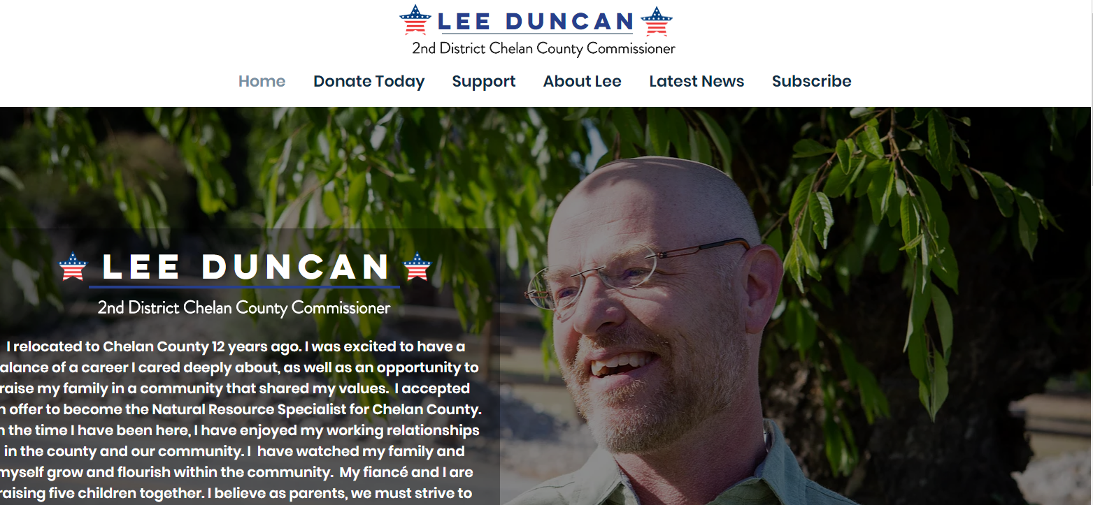 Lee Duncan For Chelan County website