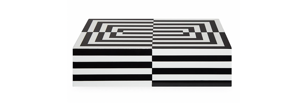 OP ART BOX LARGE BLACK AND WHITE