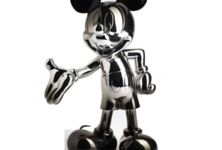 MICKEY WELCOME DEGRADE SILVER & BLACK