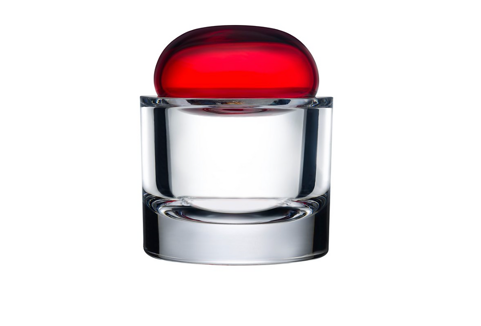 ECRIN STORAGE BOX S RED LID
