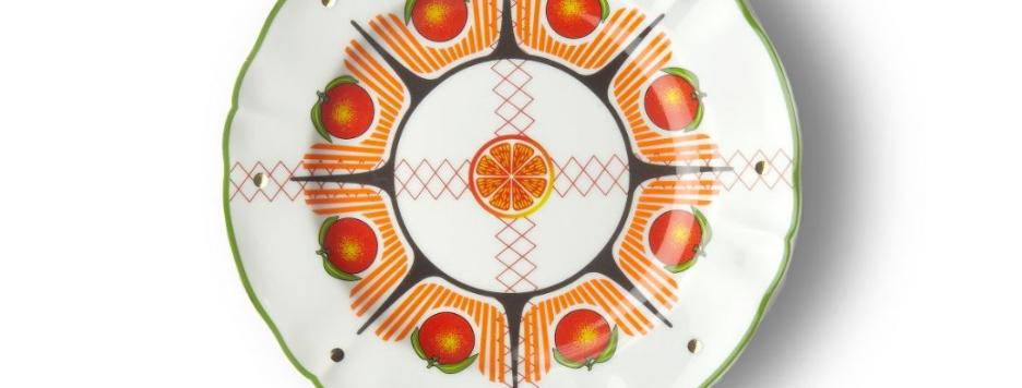 ORANGE FRUIT PLATE