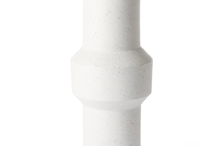 SPECKLED CLAY VASE STRAIGHT L