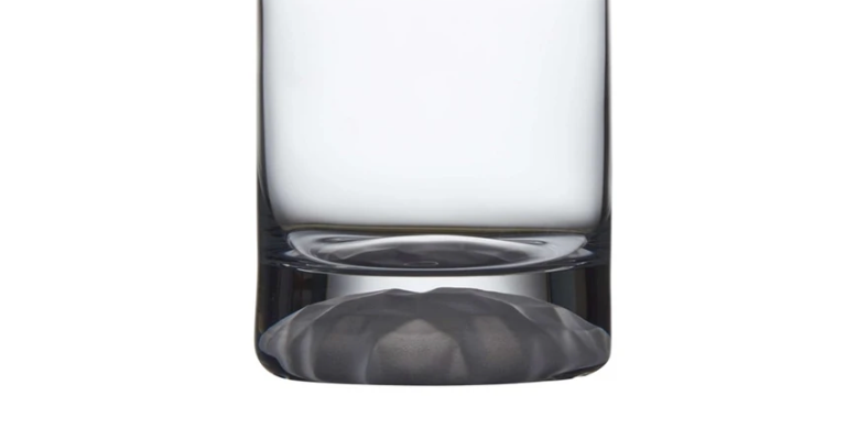 CLUB ICE SET OF 4 WHISKEY GLASSES WITH FROSTED RIPPLE EFFECT