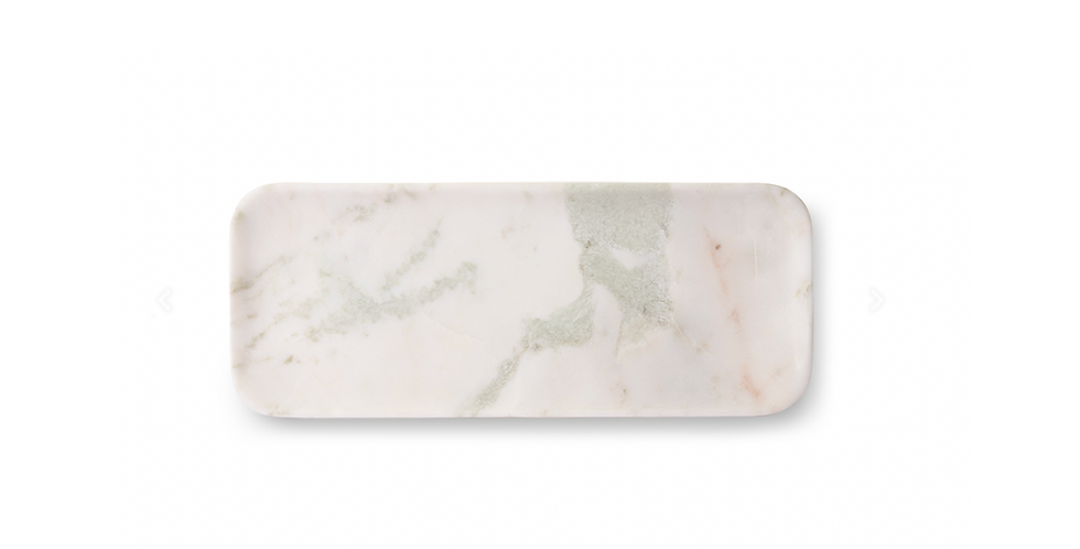WHITE GREEN PINK MARBLE TRAY