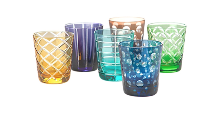 MULTICOLOR CUTTING GLASS SET