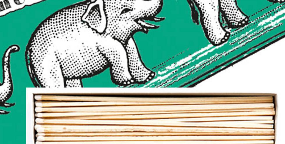 GREEN ELEPHANTS MATCHBOX