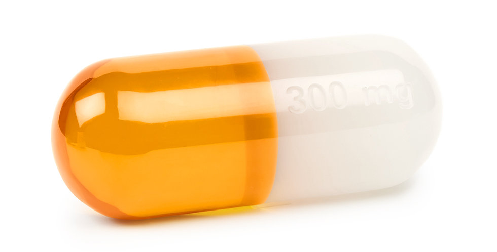 MEDIUM ORANGE ACRYLIC PILL