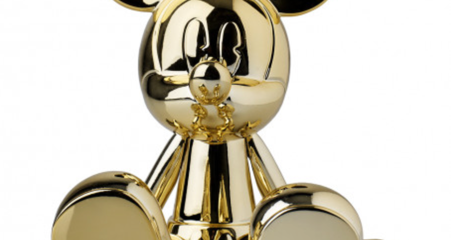 SITTING MICKEY CHROMED GOLD