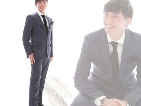 かっこいいスーツ男子の成人記念!