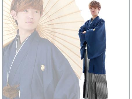 紋付袴で成人記念