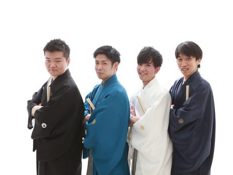 紋付袴で☆男の友情☆