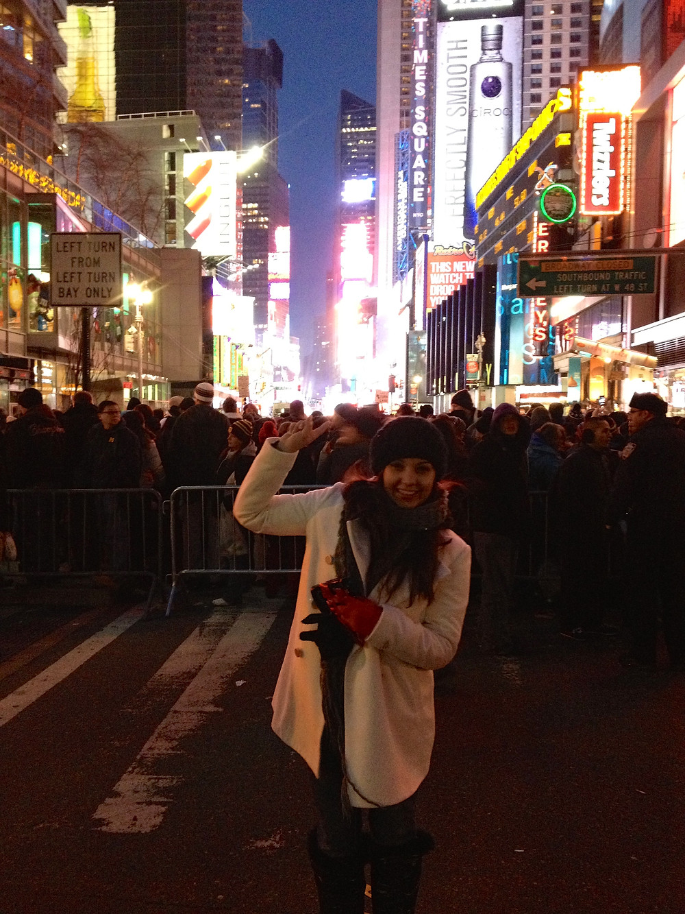 Standing in front of Times Square right after the countdown! Ringing in 2013 =)