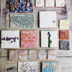 A selection of my handmade tiles .... #h