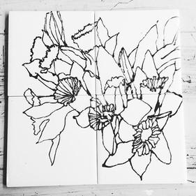 Daffodil tiles