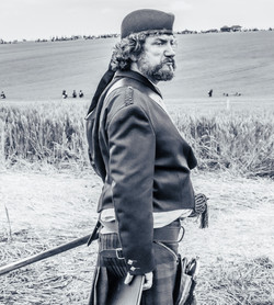 Soldier in the battle of Waterloo