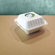 bagasse emballasje med trykk burgerboks