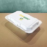 bagasse emballasje med trykk varmmatboks