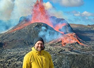 Gudni at Fagradalsfjall volcano - guide