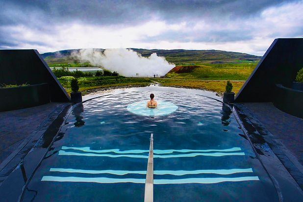 Krauma Geothermal Baths in Iceland, near