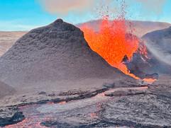 Big lava eruption in Fagradalsfjall volc
