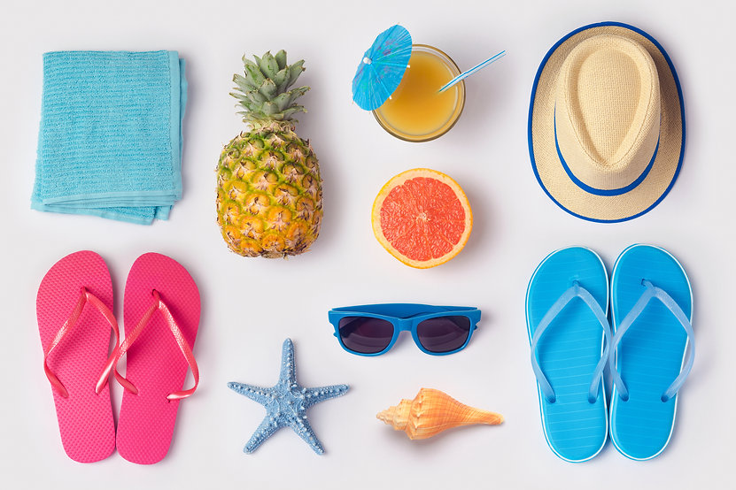 Tropical summer vacation concept with pi