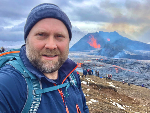 2Go Iceland | Volcano Tour | Gudni our guide at Fagradalsfjall