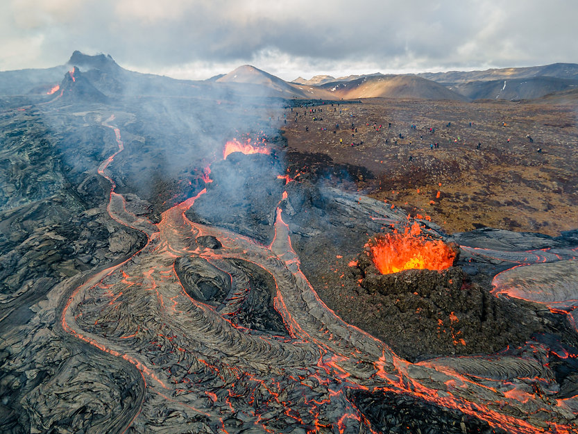 Lava Flows on active volcano aerial view, Mount Fagradalsfjall, Iceland.jpg