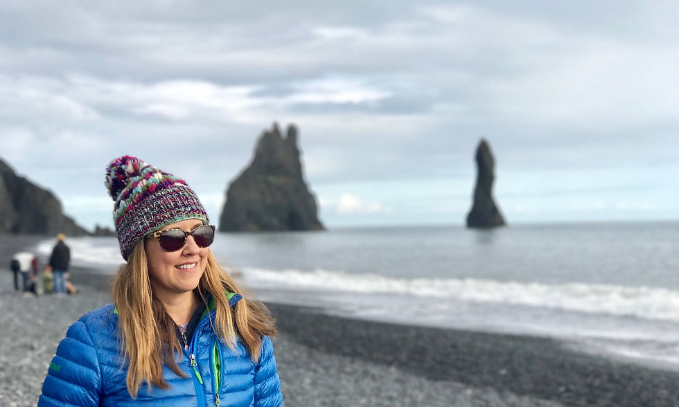 2Go Iceland | Influencers Program | Girl on the Black Sand Beach in Iceland