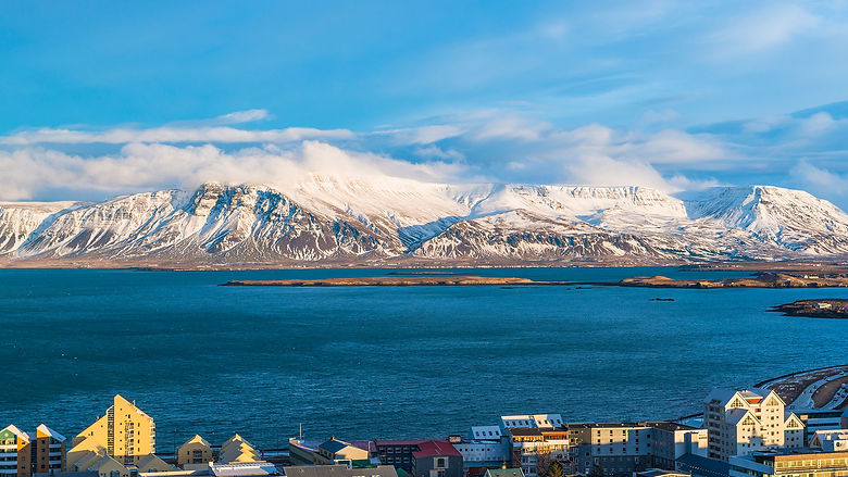 Overview of the city of Reykjavik during