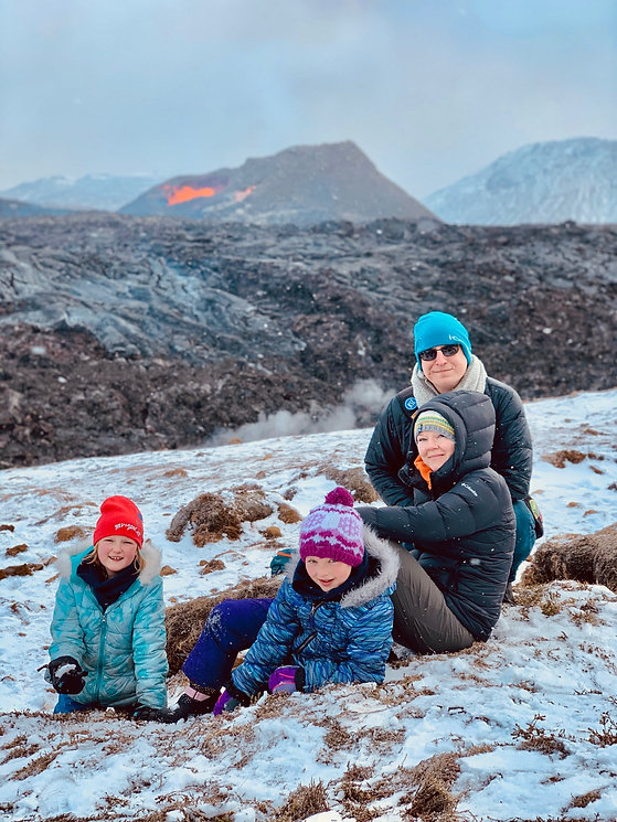 Family tour to the volcano eruption in Iceland Fagradalsfjall.jpg