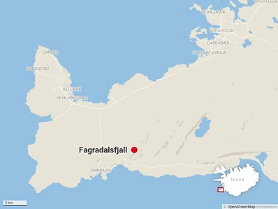 2Go Iceland | Volcano Tour | The location of Fagradalsfjall volcanic eruption