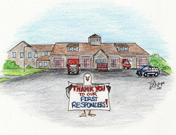 Day 14: Chuck thanks first responders
