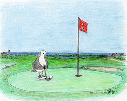 Tuesday, Day 50: Chuck plays golf