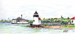 Ferry Passing Brant Point #3