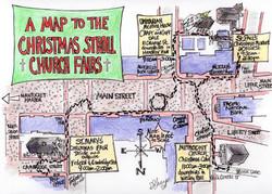 Christmas Stroll Fairs Map, 2017