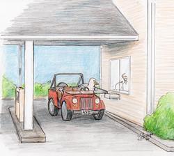 Day 29: Chuck visits the bank drive thru