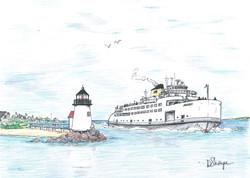 Steamer Nantucket rounding Brant Poi