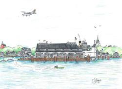 Steamer Nobska at Steamboat Wharf, C