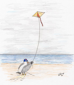 Day 47: Chuckling flies a kite