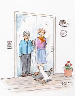 Day 27: Chuck entertains some housebound seniors