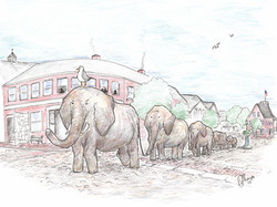 Elephant Company marches up Main St.