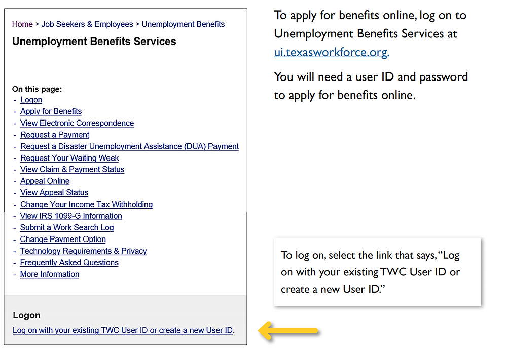 Unemployment Benefits Services