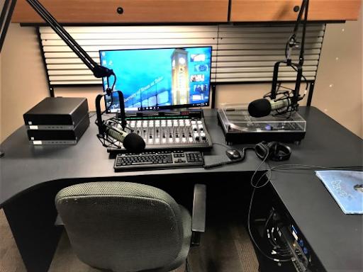 image of KVUT radio booth