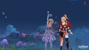 screenshot of characters from genshin impact