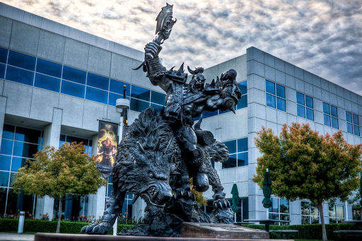 photo of the front of blizzard entertainment HQ