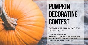 Sign up for the Talon's Pumpkin Decorating Contest!