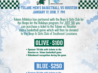 Tulane University to partner with BGCSELA with Hoops for the Holidays